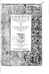 Commentariorum linguae Latinae tomus primus [-secundus]