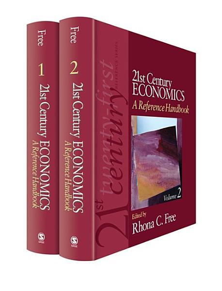 21st Century Economics  A Reference Handbook PDF