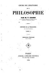 Cours de l'histoire de la philosophie: Volume1