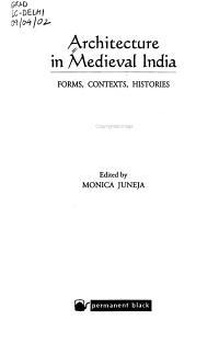 Architecture in Medieval India PDF
