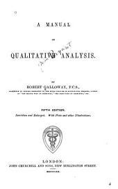 Manual of Qualitative Analysis