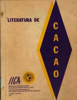 Literatura de cacao  Theobroma cacao L   PDF