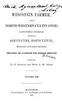 The Wisconsin Farmer  and Northwestern Cultivator PDF