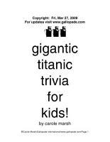 Gigantic Titanic Trivia for Kids  PDF