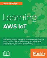 Learning AWS IoT PDF