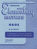 Rubank Elementary Method - Oboe