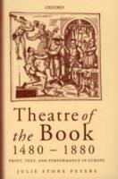 Theatre of the Book  1480 1880 PDF