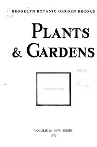 Plants   Gardens PDF