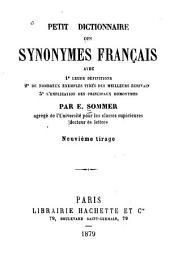 Petit dictionnaire des synonymes français, etc