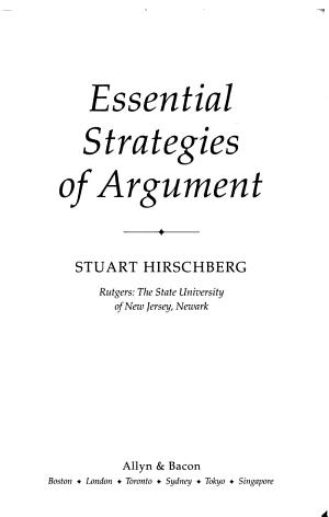 Essential Strategies of Argument PDF