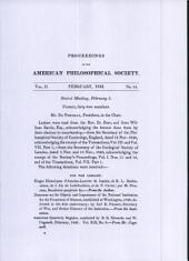 Proceedings, American Philosophical Society (vol. 2, no. 16)