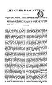 Life of sir Isaac Newton [tr. by sir H.C. Elphinstone].