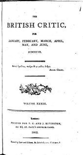 The British Critic: Volume 33