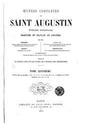 Œuvres complètes de Saint Augustin: Volume15