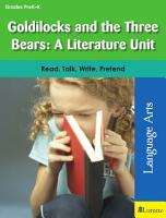 Goldilocks and the Three Bears  A Literature Unit PDF