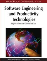 Handbook of Research on Software Engineering and Productivity Technologies  Implications of Globalization PDF