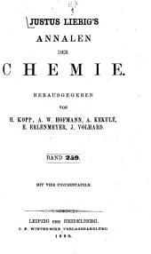 Justus Liebigs Annalen der Chemie: Band 259