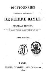 Dictionnaire historique et critique: Volume6