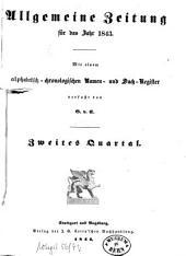 Allgemeine Zeitung München: 1843, [2]