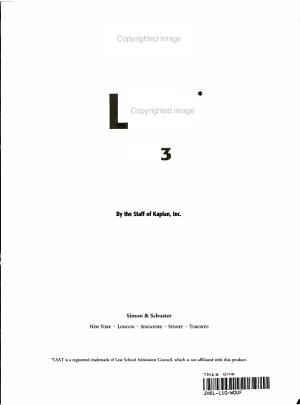 Kaplan LSAT 2002-2003