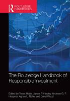 The Routledge Handbook of Responsible Investment PDF