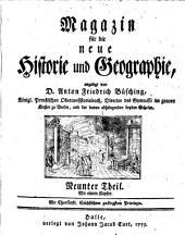 Magazin für die neue Historie und Geographie: Band 9