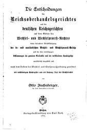 Die Entscheidungen des Reichsgerichts: Band 2