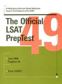 Official Lsat Preptest 49 Book