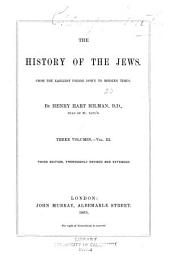 The History of the Jews: Volume 3
