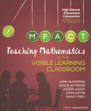 Teaching Mathematics in the Visible Learning Classroom  High School PDF