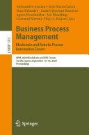 Business Process Management: Blockchain and Robotic Process Automation Forum