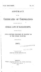 Abstracts of the Certificates of Corporations Organized ...