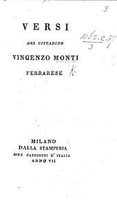 Versi del cittadino Vincenzo Monti ferrarese