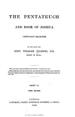 The Pentateuch and Book of Joshua Critically Examined PDF