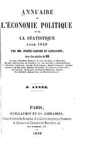 Annuaire de l'économie politique et de la statistique: Volume6