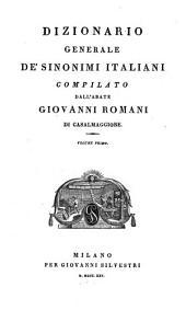 Dizionario generale de' sinonimi italiani: Volume 1