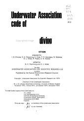 Underwater Association Code Of Practice For Scientific Diving