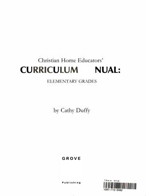 Christian Home Educators  Curriculum Manual PDF