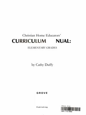 Christian Home Educators  Curriculum Manual