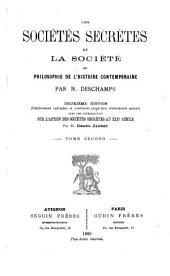 Les sociétés secrètes et la société, ou la philosophie de l'histoire contemporaine: introduction sur l'action des sociétés secrètes au XIXe siècle