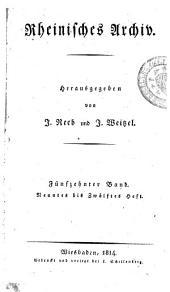 Rheinisches Archiv: Band 15