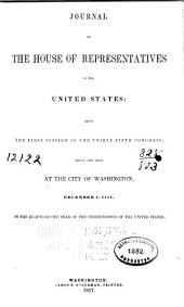 Journal of the House of Representatives of the United States: Volume 35, Issue 1