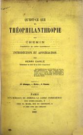 Qu'est-ce que la théophilanthropie?
