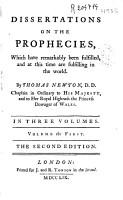 Dissertations on the Prohecies PDF