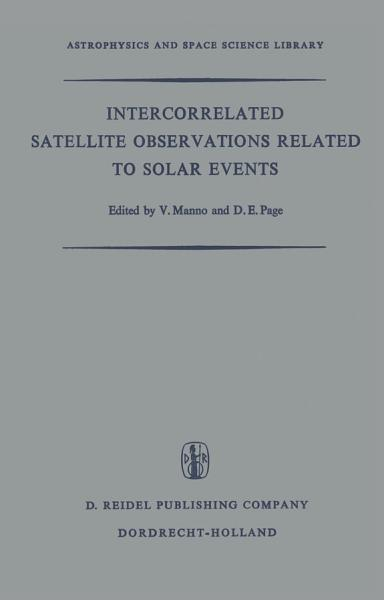 Intercorrelated Satellite Observations Related to Solar Events