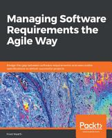 Managing Software Requirements the Agile Way PDF