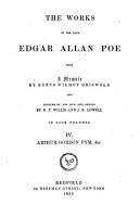 The Works of the Late Edgar Allan Poe  Narrative of Arthur Gordon Pym  Miscellanies PDF