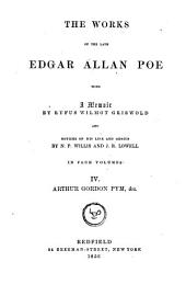 The Works of the Late Edgar Allan Poe: Narrative of Arthur Gordon Pym. Miscellanies