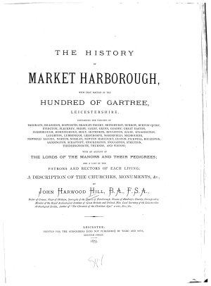 The History of Market Harborough PDF