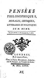 Pensées philosophiques, morales, critiques, littéraires et politiques